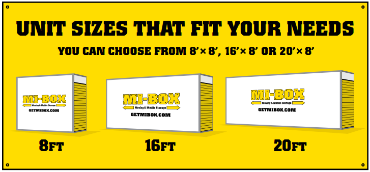MI-BOX of San Diego 8', 16' and 20' mobile storage containers