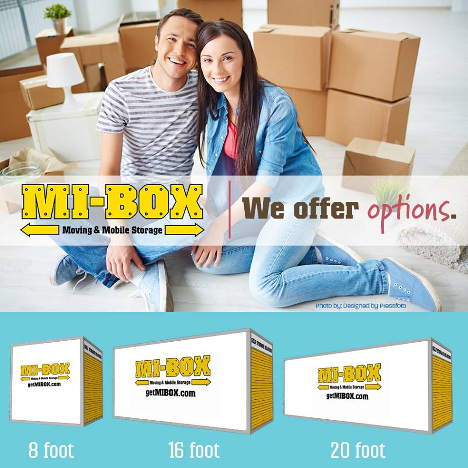 Gray Moving and Storage Containers by MI-BOX