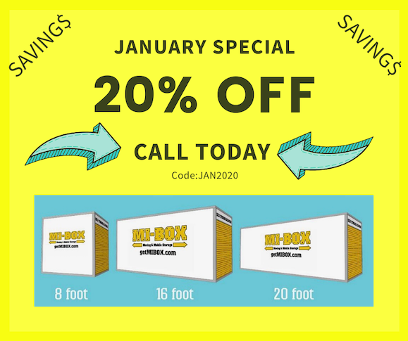 Jan 20 mobile storage special Oneco, Florida