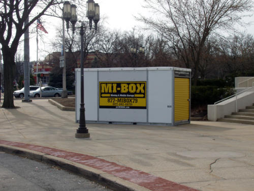 MI-BOX Mobile Storage & Moving in New York. Looks like part of the landscaping huh?